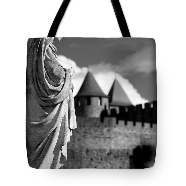 Notre Dame Carcassonne Tote Bag by Robert Lacy