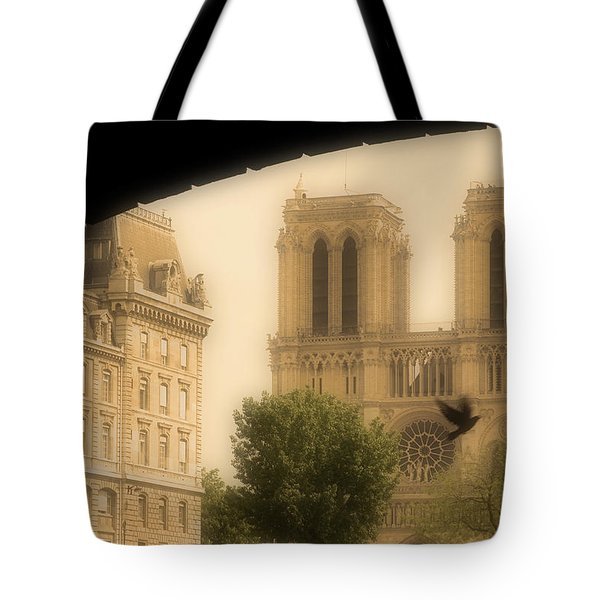 Notre Dame Cathedral Viewed Tote Bag by John Sylvester