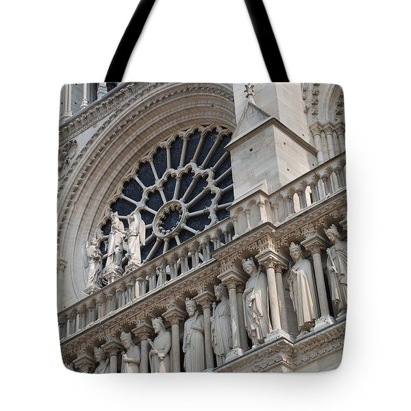 Tote Bag featuring the photograph Notre Dame Details by Jennifer Ancker