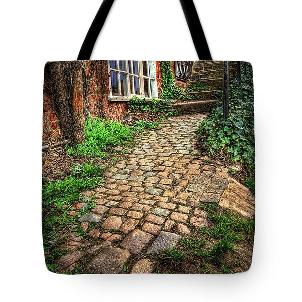 Nottingham Bridge Footpath Tote Bag by Yhun Suarez