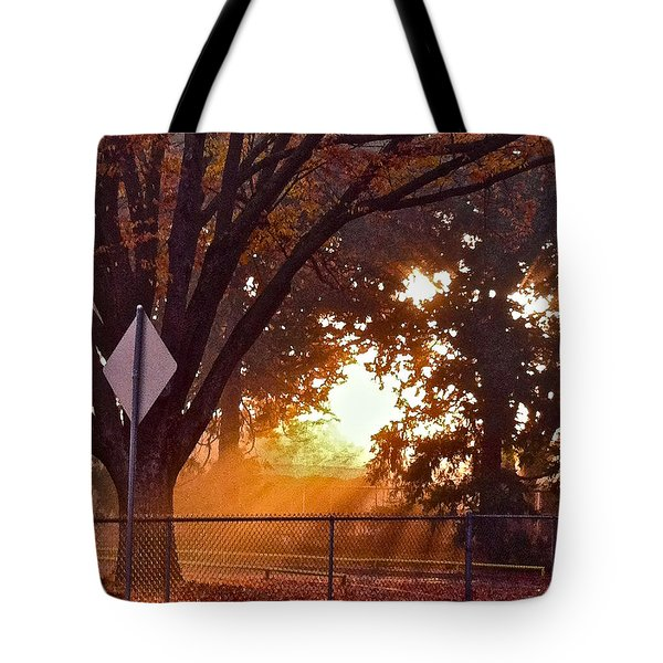 Tote Bag featuring the photograph November Sunrise by Bill Owen