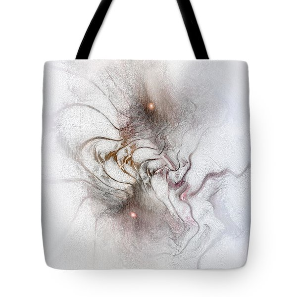 Tote Bag featuring the digital art Nuanced by Casey Kotas