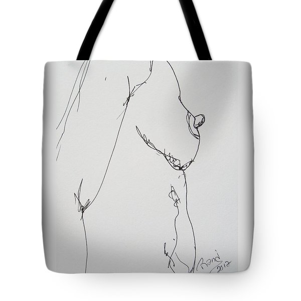 Nude Breast Study Tote Bag by Rand Swift