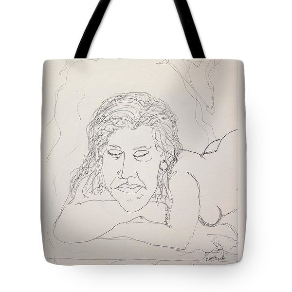 Nude Contour In Ink Tote Bag