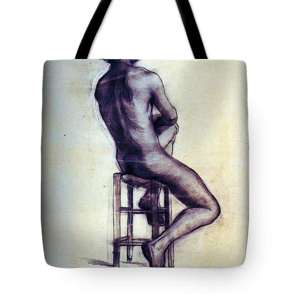 Nude Man Sketch Tote Bag by Sumit Mehndiratta