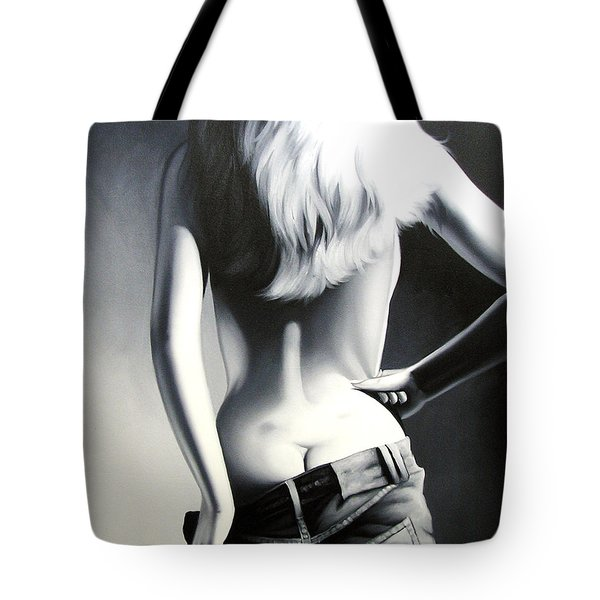 Nude Woman Tote Bag by Sumit Mehndiratta