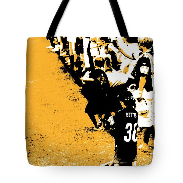 Number 1 Bettis Fan - Black And Gold Tote Bag