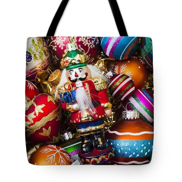 Nutcraker Ornament Tote Bag