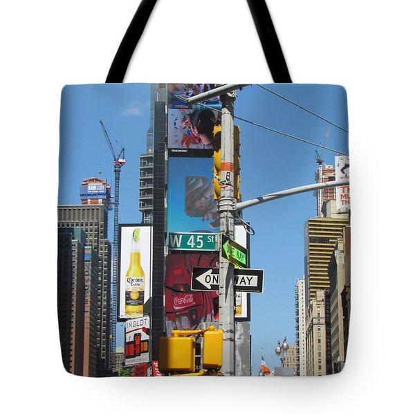 Nyc Directions Tote Bag by Randi Shenkman