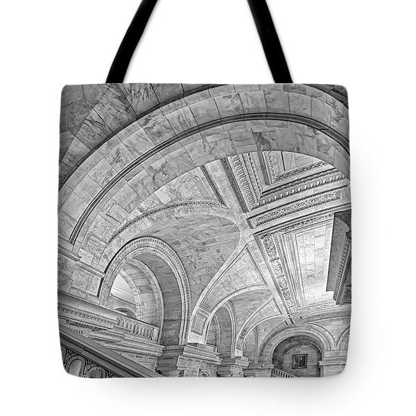 Nyc Public Library Tote Bag by Susan Candelario