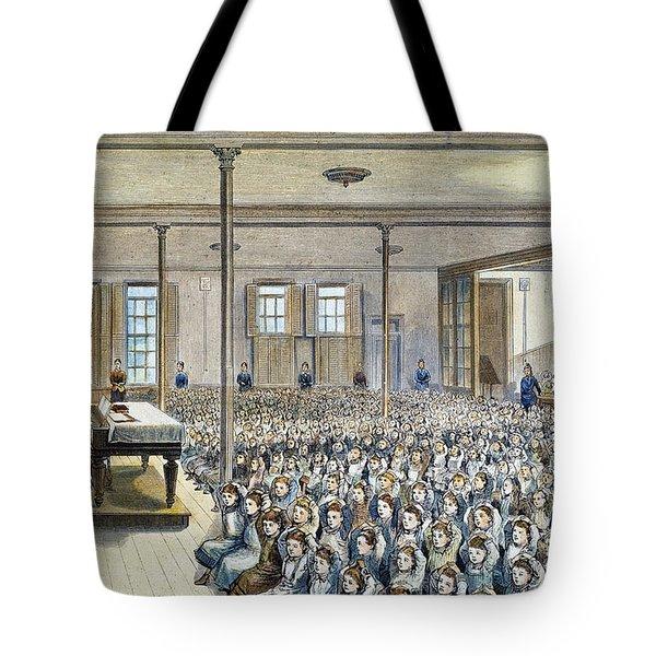Nyc School Room, 1881 Tote Bag by Granger