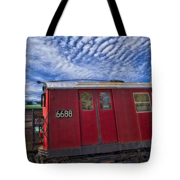 Nyc Subway No 7 Tote Bag by Susan Candelario