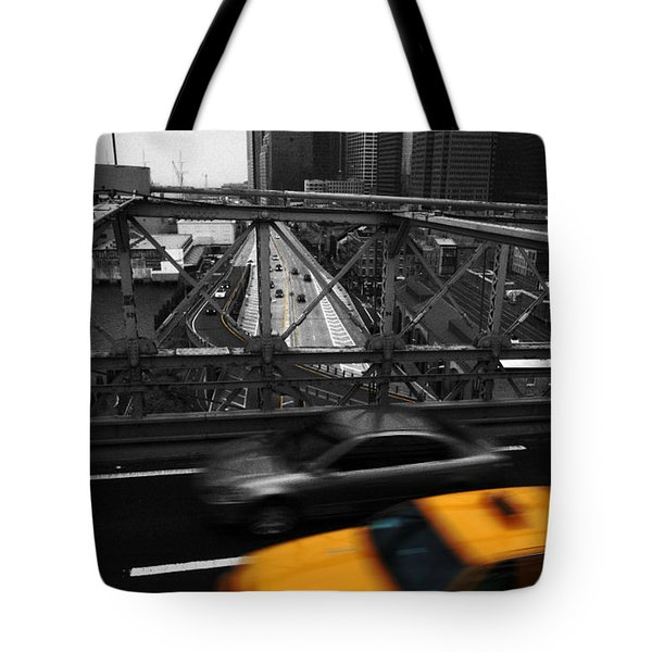 Nyc Yellow Cab Tote Bag by Hannes Cmarits