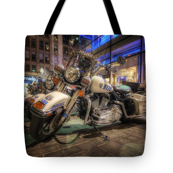Nypd Bikes Tote Bag