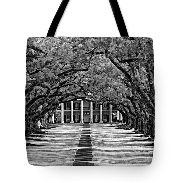 Oak Alley monochrome Tote Bag by Steve Harrington