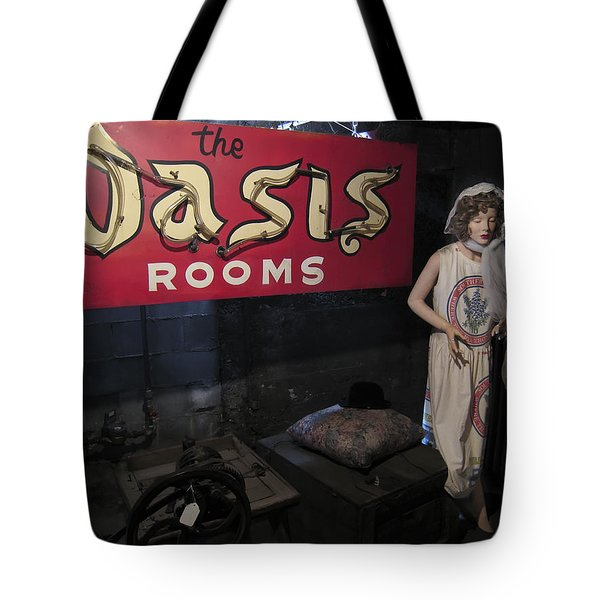 Oasis Bordello Basement - Wallace Idaho Tote Bag by Daniel Hagerman