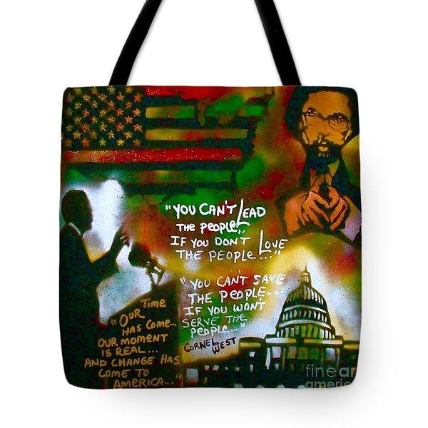 Obama Vs. Cornel Tote Bag by Tony B Conscious