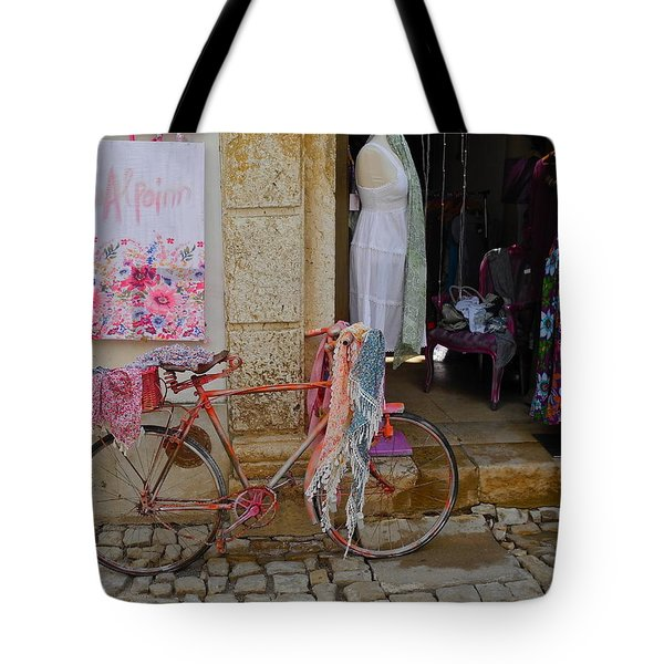 Tote Bag featuring the photograph Obidos Portugal Street Scene by Kirsten Giving