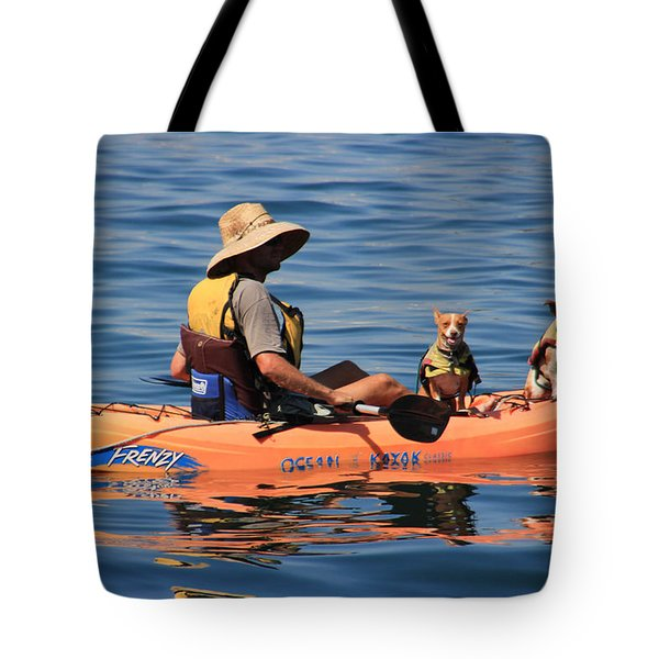 Ocean Kayaking Tote Bag by Heidi Smith