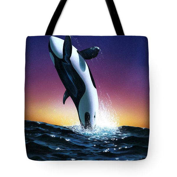 Ocean Leap Tote Bag by MGL Studio - Chris Hiett