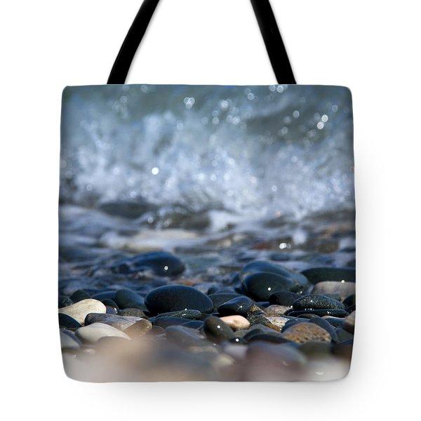 Ocean Stones Tote Bag by Stelios Kleanthous
