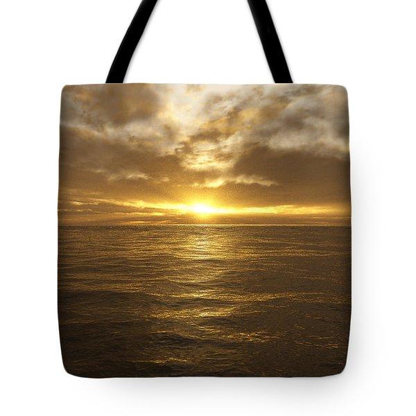 Ocean Sunset Tote Bag by Mark Greenberg