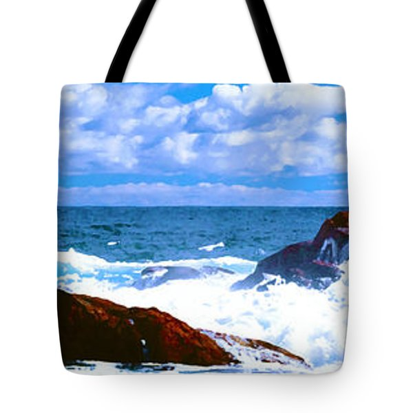Ocean Surf Tote Bag by Phill Petrovic