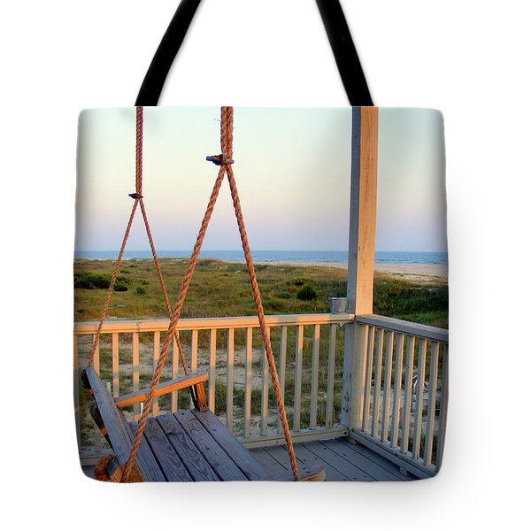 Tote Bag featuring the photograph Ocean View At Oak Island Nc by Kelly Nowak