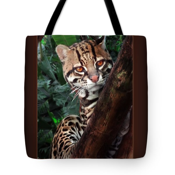 Ocelot Lookout Tote Bag