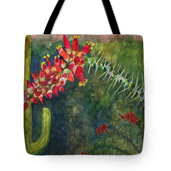 Ocotillo Spring Tote Bag