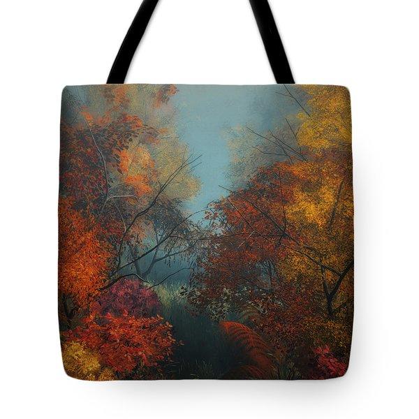 October Tote Bag by Jutta Maria Pusl