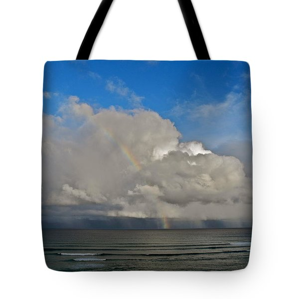 Tote Bag featuring the photograph October Rainbow In Maui by Kirsten Giving