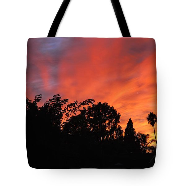 October Sunset 10 Tote Bag