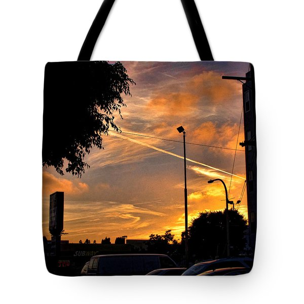 October Sunset 6 Tote Bag