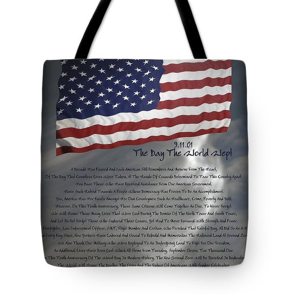 Ode For September Eleven Anniversary Tote Bag