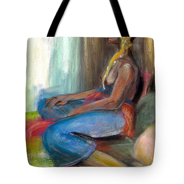 Tote Bag featuring the drawing Royal by Gabrielle Wilson-Sealy
