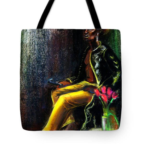 Tote Bag featuring the drawing Odelisque by Gabrielle Wilson-Sealy