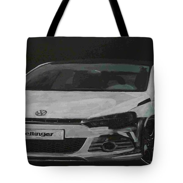 Tote Bag featuring the painting Oettinger Vw Scirocco  by Richard Le Page