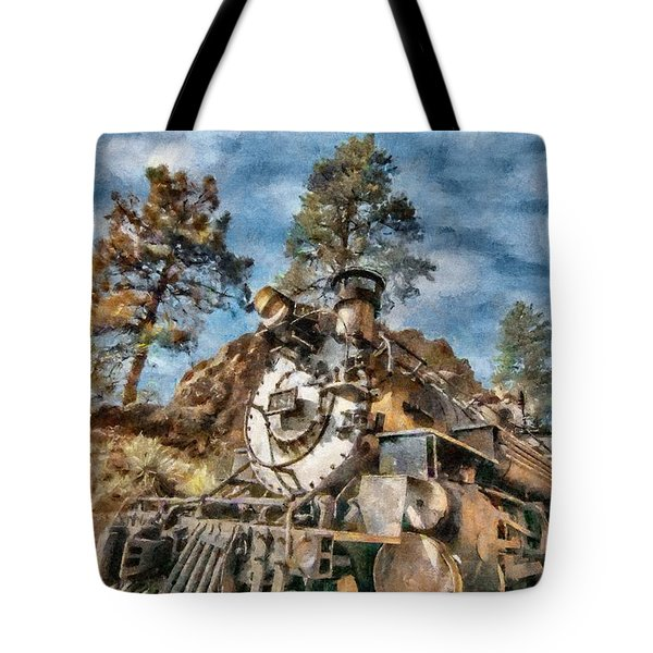 Of Mountain And Machine Tote Bag by Jeffrey Kolker