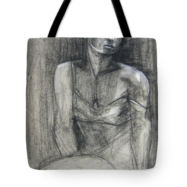 Tote Bag featuring the drawing Off The Shoulder by Gabrielle Wilson-Sealy