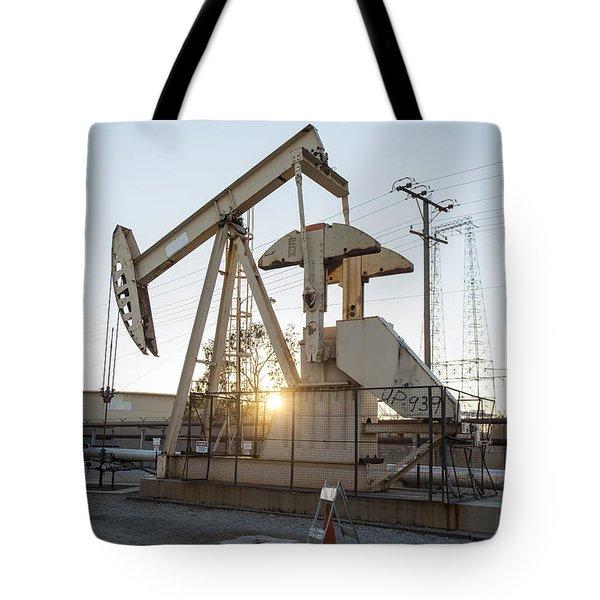 Oil Derrick Tote Bag by Mike Raabe
