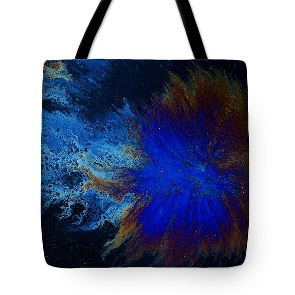 Oil On Pavement Cradle Of The World Tote Bag