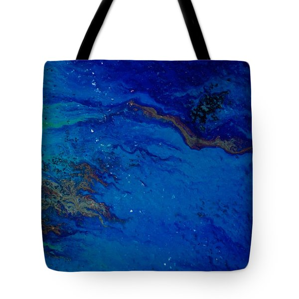 Oil On Pavement Dawns Highway Tote Bag