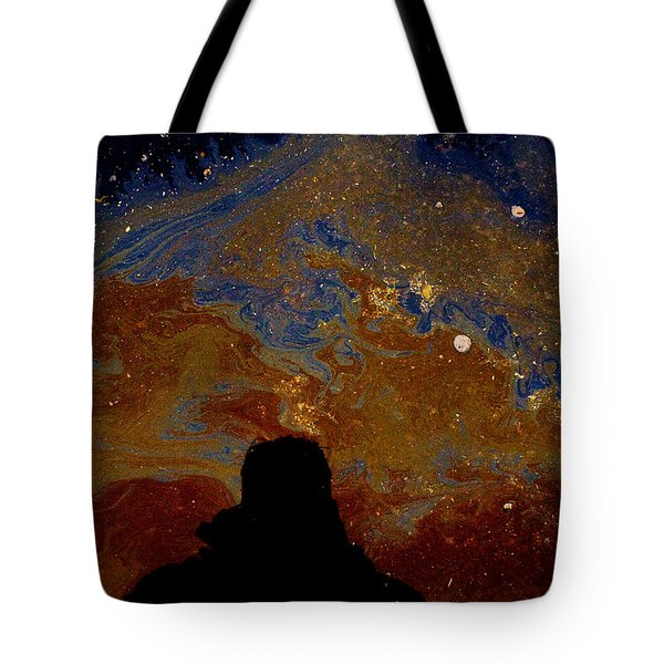 Oil On Pavement Visionary Tote Bag