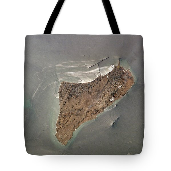 Oil Port, Iran Tote Bag by NASA / Science Source