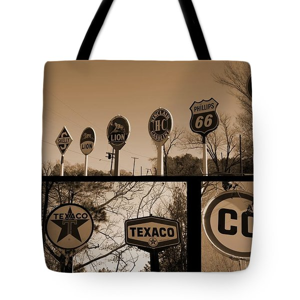 Oil Sign Retirement Tote Bag by Betty Northcutt
