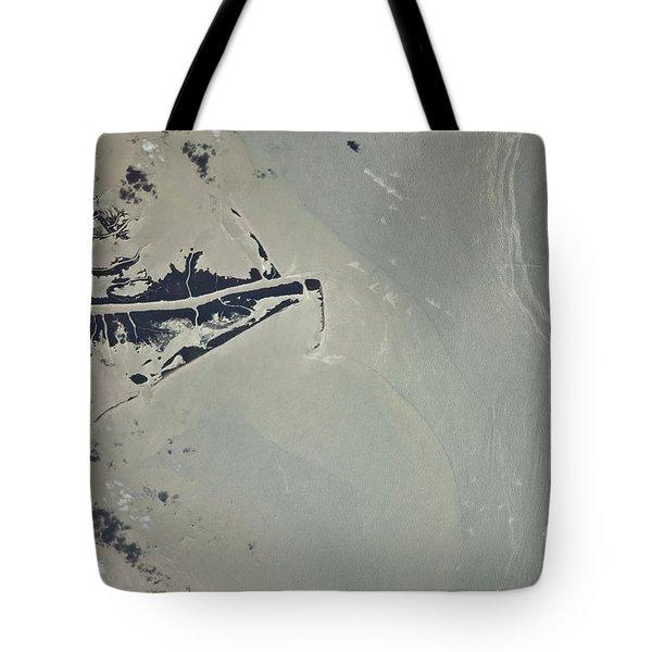 Oil Slick, Mississippi River Delta Tote Bag by NASA/Science Source