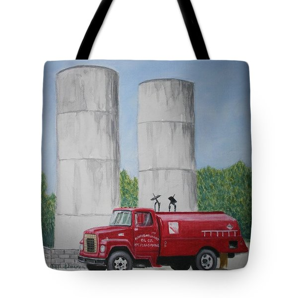 Tote Bag featuring the painting Oil Truck by Stacy C Bottoms