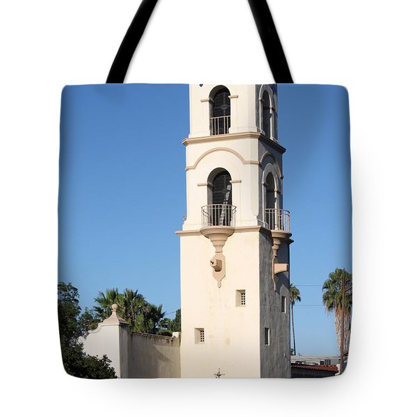 Tote Bag featuring the photograph Ojai Post Office Tower by Henrik Lehnerer