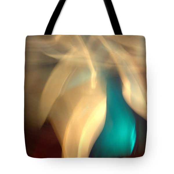 Tote Bag featuring the mixed media O'keefe II by Terence Morrissey